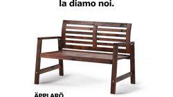 La svedese Ikea sfotte l'Italia e regala una panchina a Gian Piero