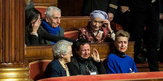 Foto Roberto Monaldo / LaPresse14-12-2017 Roma PoliticaSenato - ddl su biotestamentoNella foto La gioia...