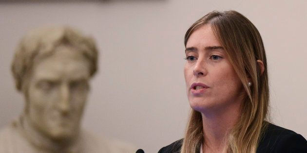 ROME, ITALY - SEPTEMBER 29: Maria Elena Boschi participates in the National Family Conference, on September...