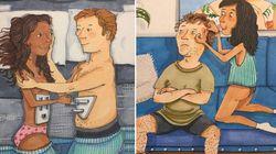 Questi disegni illustrano i piccoli momenti d'intimità dell'amore nella vita di tutti i
