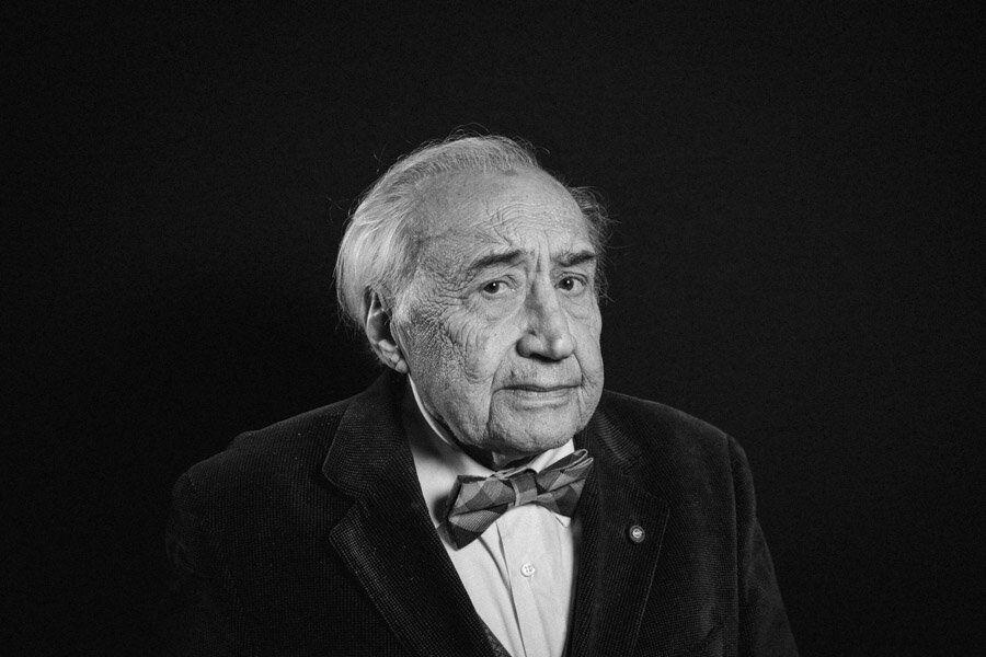 PALERMO, ITALIA - 5 DICEMBRE 2017: Alfonso Giordano (89), giudice in pensione e Presidente della Corte...