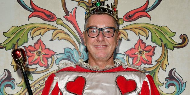 MILAN, ITALY - SEPTEMBER 24: Stefano Gabbana attends Dolce & Gabbana Queen Of Hearts Party show during...