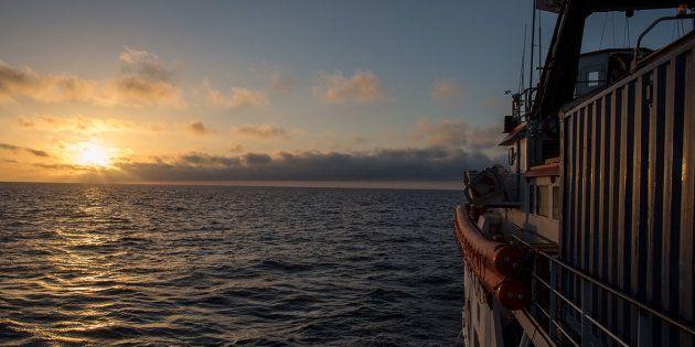 Immagine di archivio della missione MOAS 2017 nel Mediterraneo Centrale sospesa a fine
