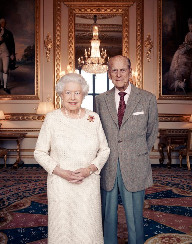 In this handout photo issued by Camera Press and taken in Nov. 2017, Britain's Queen Elizabeth and Prince...