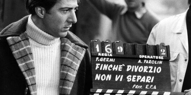 American actor Dustin Hoffman on the set of 'FinchT divorzio non vi separi', later entitled 'Alfredo...
