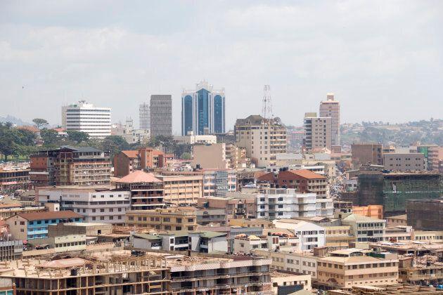 'Aerial view of Kampala, Uganda.other