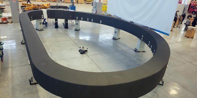 Il supermagnete pi� grande del mondo realizzato dalla Asg Superconductor. La Spezia, 20 novembre 2017.