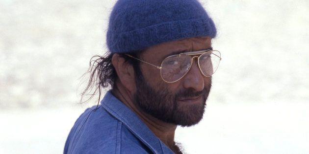 Italian singer, songwriter and musician Lucio Dalla posing with a beret on his head. 1985. (Photo by...