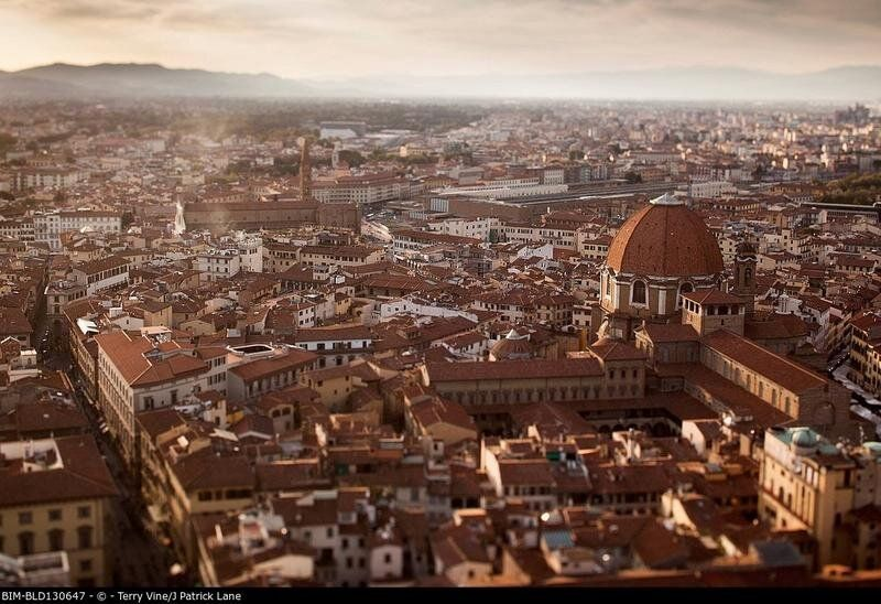 Aerial view of Florence cityscape, Tuscany,