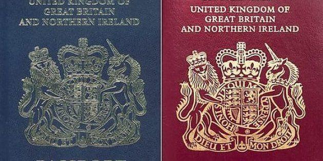 Mai più rosso porpora, i passaporti del Regno Unito tornano al navy blu dopo 36