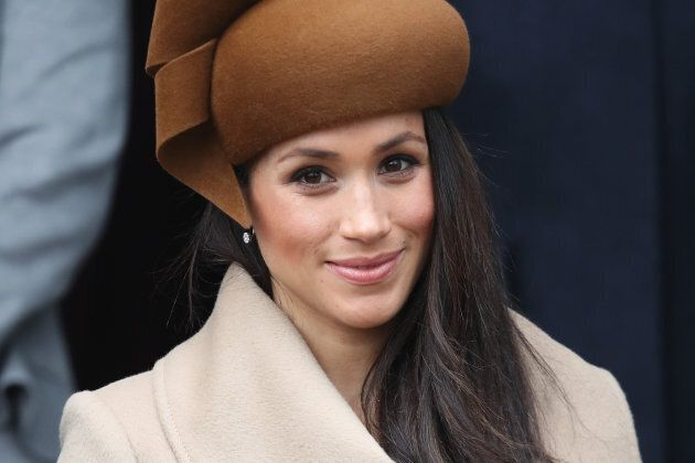 KING'S LYNN, ENGLAND - DECEMBER 25: Meghan Markle attends Christmas Day Church service at Church of St...