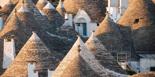 Traditional Trulli style houses in Alberobello, Puglia, Italy,