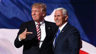 Donald Trump and Mike Pence have both criticized Rep. Ilhan Omar. (Photo: Chip Somodevilla/Getty Images)