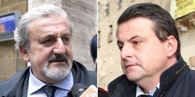 Nella combo (s) il presidente della Regione Puglia Michele Emiliano e (d) il ministro per lo sviluppo...
