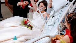 Muore di cancro poche ore dopo essersi sposata. Le foto del matrimonio di Heather sono un inno alla vita e alla