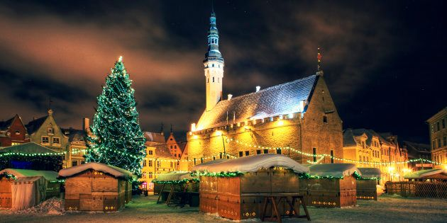 Annual christmas market in Tallinn,