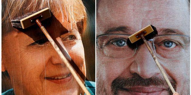 Angela Merkel corteggia Martin Schulz per un