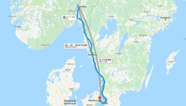 Si ubriaca a Capodanno e viaggia da Copenhagen a Oslo in taxi. E