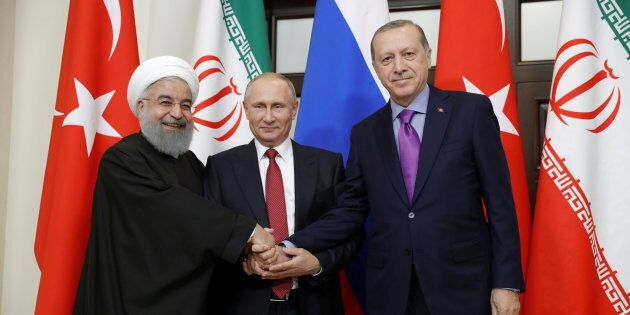 L'asse Putin-Erdogan-Rohani si rafforza contro le