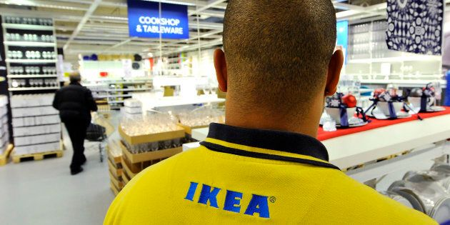 An Ikea employee works at the Wembley branch of the Swedish international furniture and home accessories...