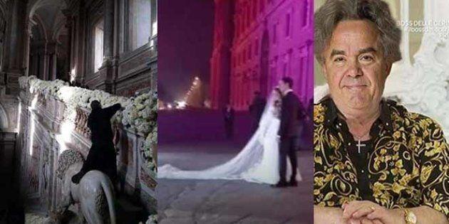Reggia di Caserta: un fioraio a cavalcioni sul leone e polemica per il matrimonio di Angela