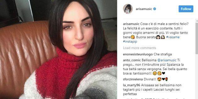 Arisa cambia look su Instagram: