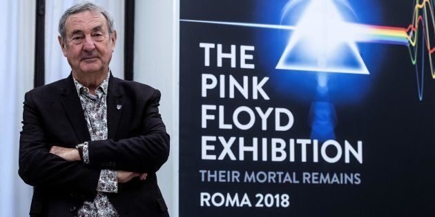 Il batterista dei Pink Floyd Nick Mason, durante la conferenza stampa di presentazione della