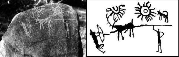 Scoperta una roccia di 5000 anni fa su cui è raffigurata una