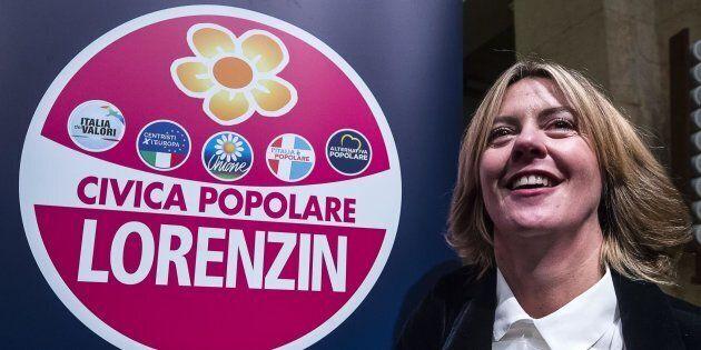 La ministra della Salute Beatrice Lorenzin durante la presentazione del simbolo