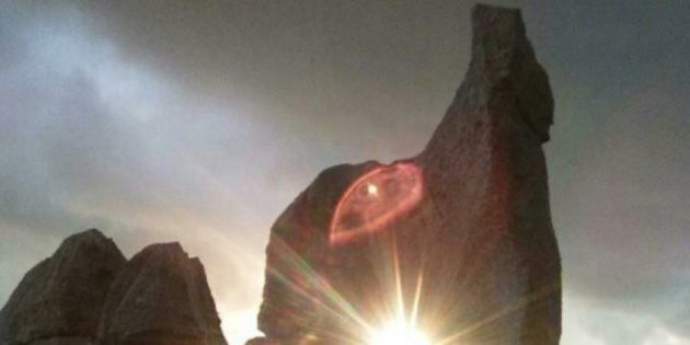 Custonaci (Trapani), tramonto al solstizio