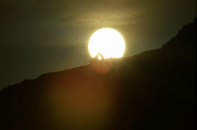 Arcivocalotto (San Cipirello, PA), Alba al solstizio d'inverno (foto cortesia di Alberto