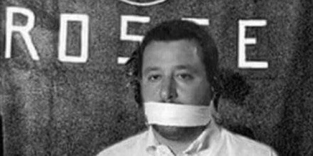 Salvini prigioniero delle Br, il fotomontaggio fa infuriare il leader leghista: