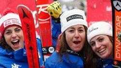 Storica discesa a Bad: vincono tre italiane e il podio è tutto