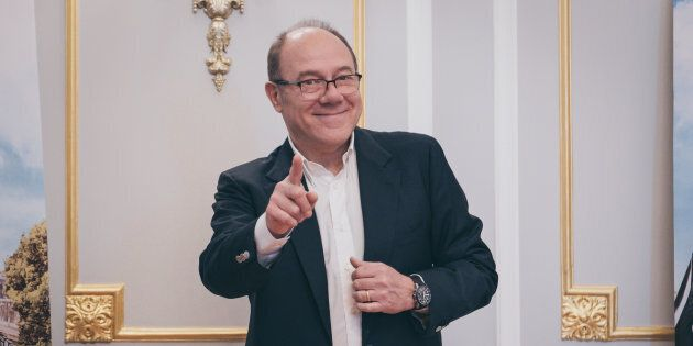 Carlo Verdone attends Photocall of the movie 'Benedetta Follia' at the Hotel St.Regis in Rome, Italy...
