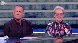Occhi ludici di Hanks e Streep a
