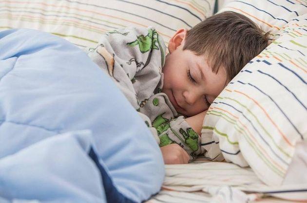 Boy sleeping in