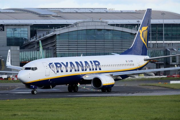 A Ryanair plane is parked on the tarmac at Dublin Airport on September 21, 2017. Ryanair chief executive...