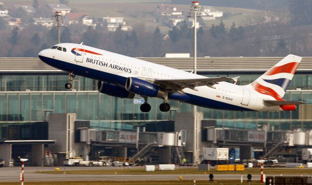A British Airways Airbus A320-232 aircraft takes off from Zurich Airport January 9, 2018. REUTERS/Arnd