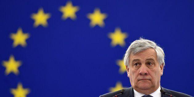 President of the European Parliament Antonio Tajani attends a debate at the European Parliament in Strasbourg,...