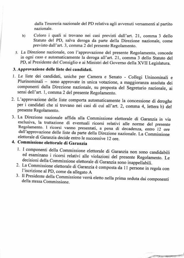 Il collegio fa paura. Renzi in pressing sui ministri: non scelgano solo il proporzionale. Niente Parlamento...