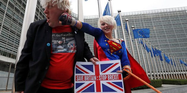 Britain's anti-Brexit activists Madeleina Kay, who nicknamed herself