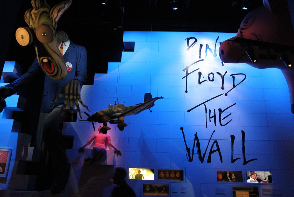 ROME, ITALY - JANUARY 16: An installation on display as part of The Pink Floyd Exhibition: Their Mortal...