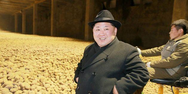 La foto di Kim Jong con sullo sfondo delle patate ha scatenato la creatività del