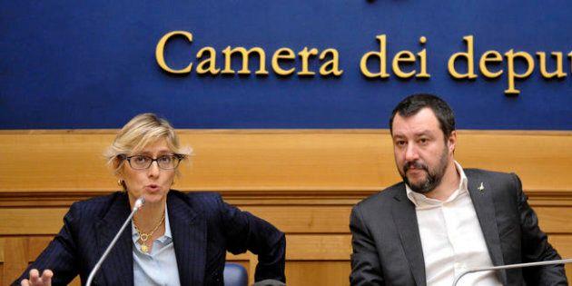 18/01/2018 Roma, conferenza stampa del segretario della Lega per annunciare la candidatura dell'avvocato...