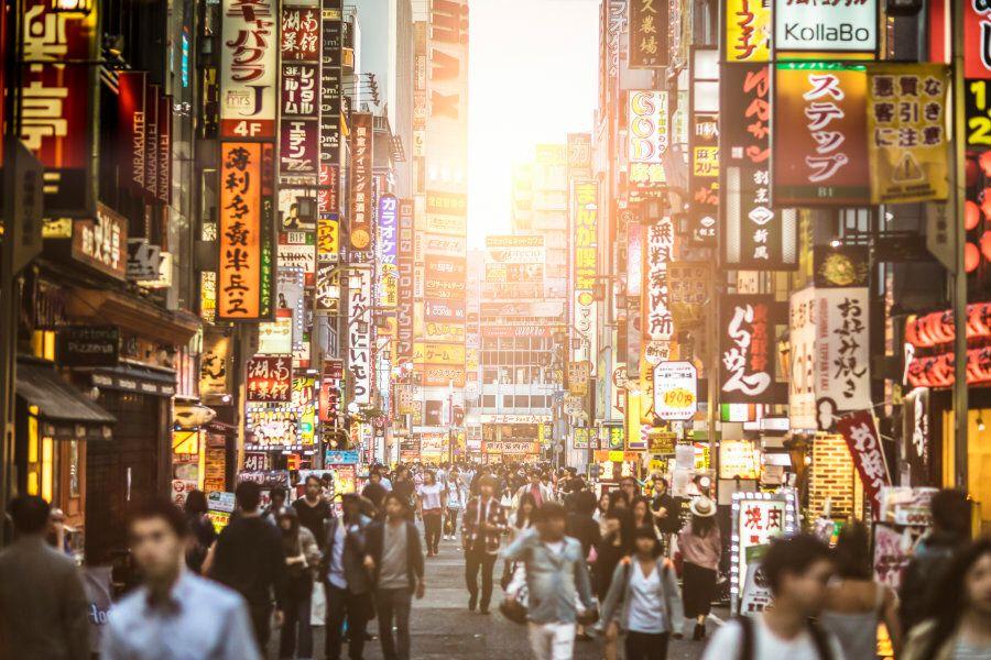 Sunset at Shinjuku , Tokyo -