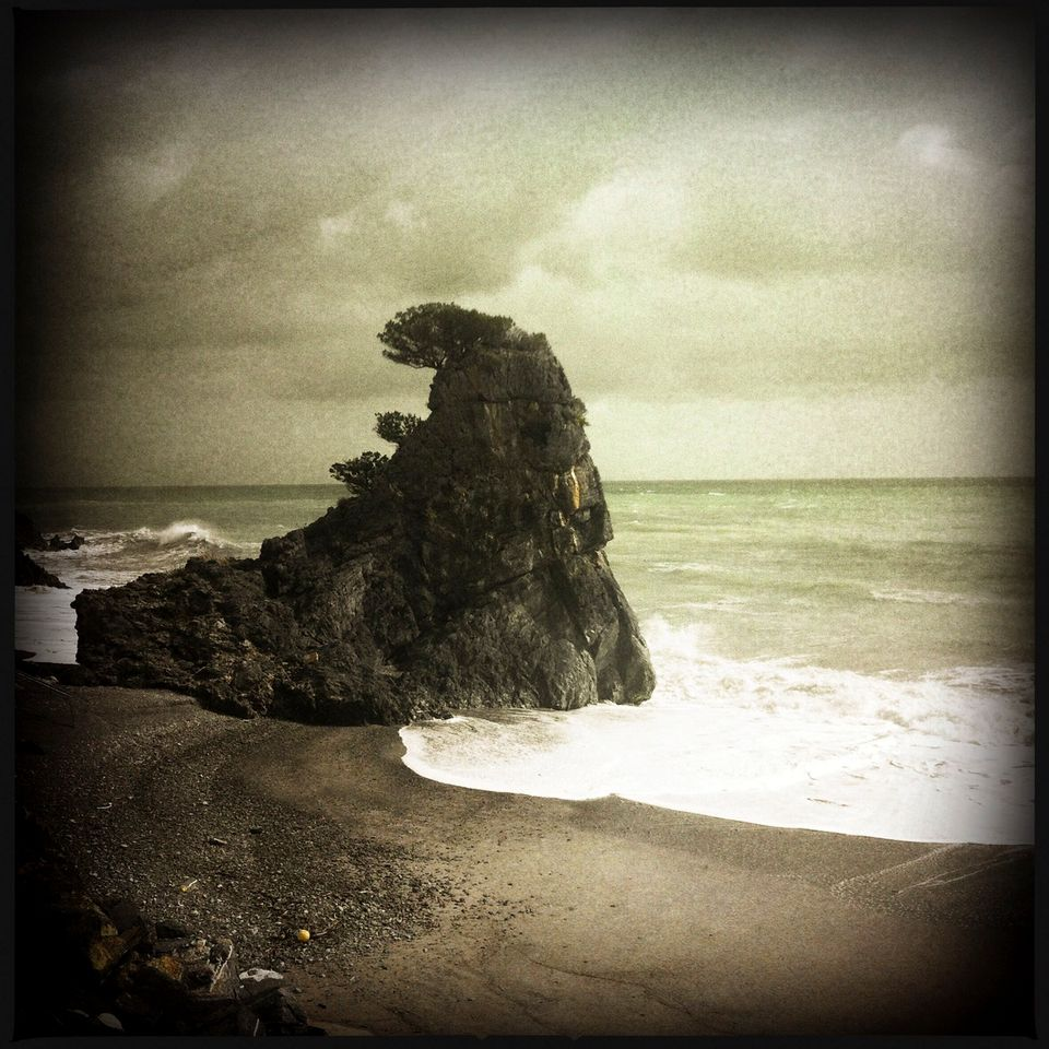 (Sirens) - Palinuro Italy, April 2012 - View of a small promontory not far from Cape Palinuro where the...