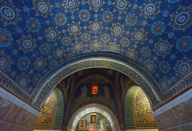 Ceiling in the Masoleum of Galla