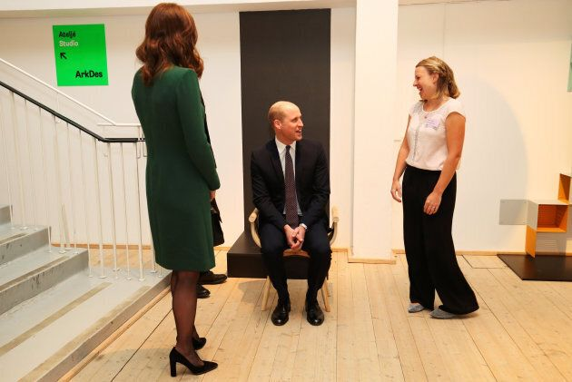 Stoccolma, Svezia, 30 gennaio: Prince William visita l'ArkDes museum nel primo giorno del tour in Svezia...