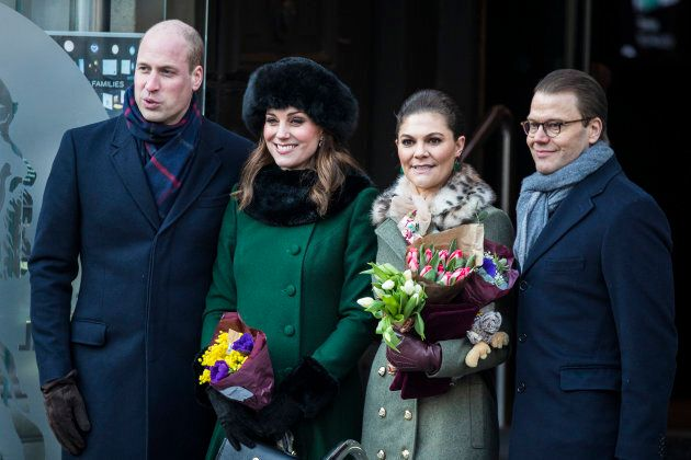 Stoccolma, Svezia, 30 gennaio: il principe William, Duca di Cambridge e Catherine, Duchessa di Cambridge...