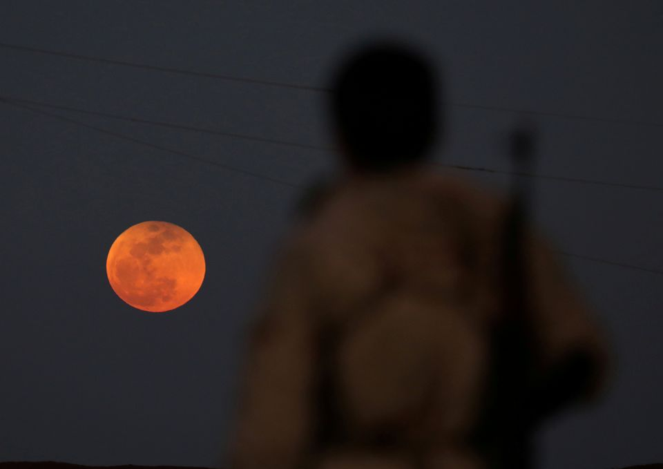 Superluna a Daraa, in